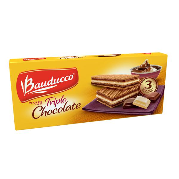 Biscoito BAUDUCCO Wafer Triplo Chocolate 140g