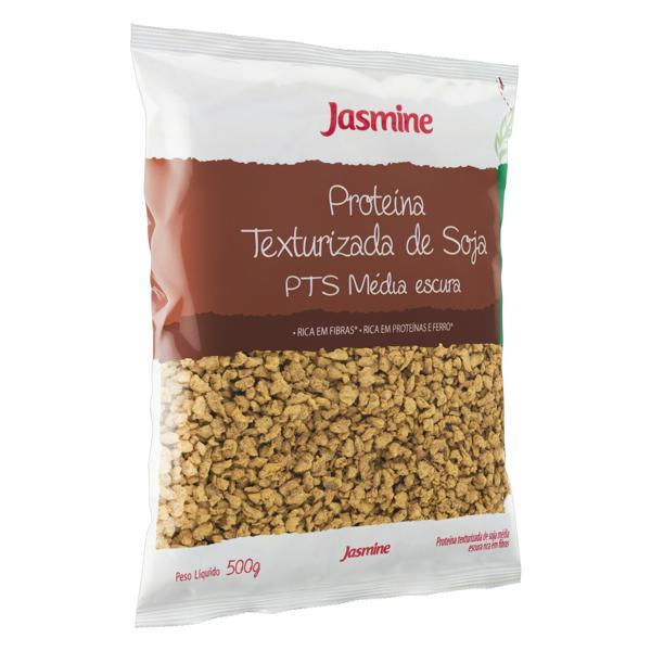 Proteína Texturizada de Soja Média Escura Integral Jasmine Pacote 500g