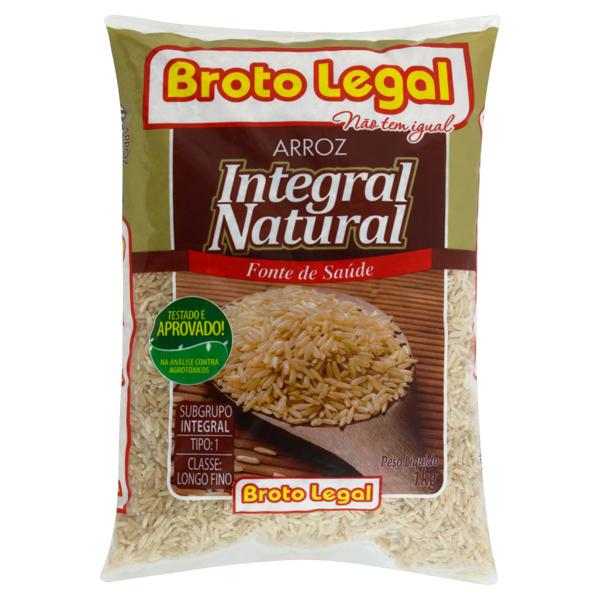 Arroz Tipo 1 Integral Broto Legal Pacote 1kg