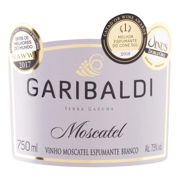 Espumante Brasileiro Branco Garibaldi Moscatel Serra Gaúcha Garrafa 750ml