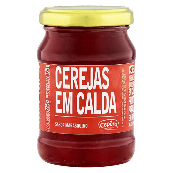 Cereja em Calda Marasquino Cepêra Vidro 125g