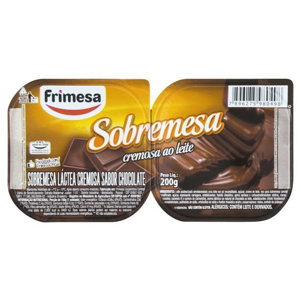 Sobremesa  Frimesa Chocolate 200g 2un.
