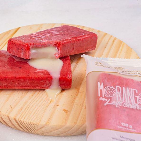 Picolé Gourmet de Morango Leite condensado 130g