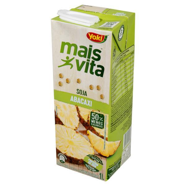 Bebida à Base de Soja Abacaxi Yoki Mais Vita Caixa 1l