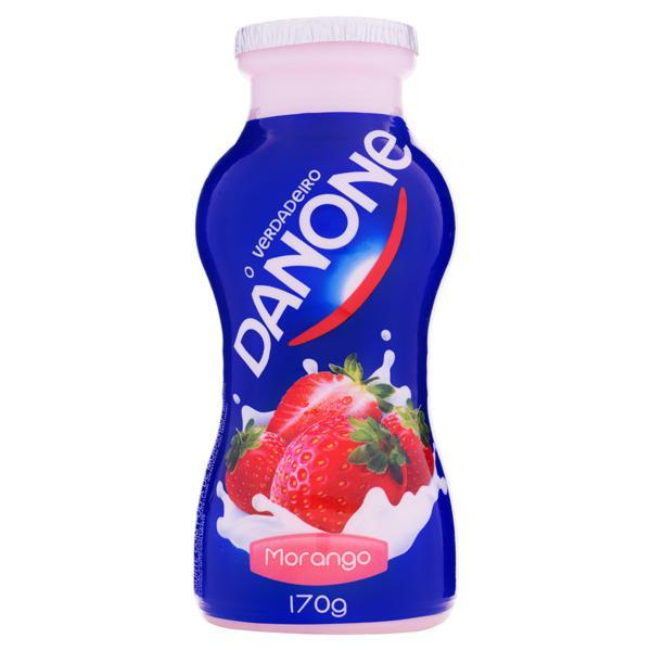 Iogurte Integral Morango Danone Frasco 170g