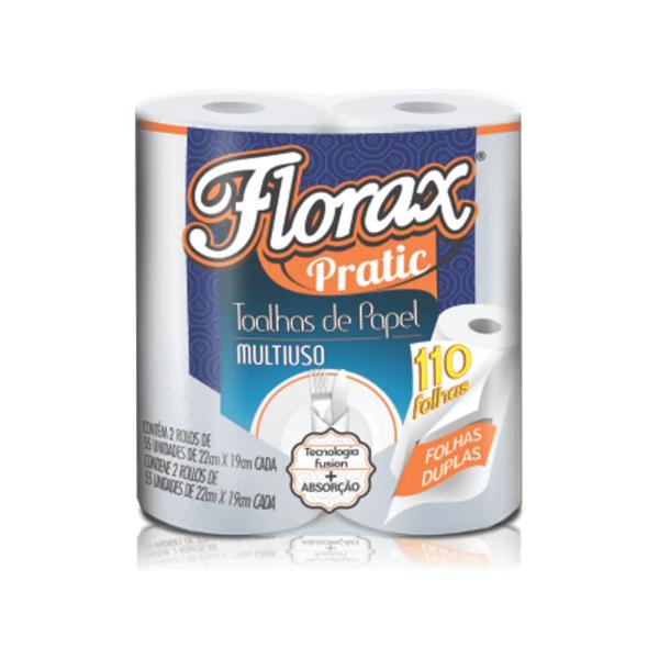 Papel Toalha Florax Pratic 2Un