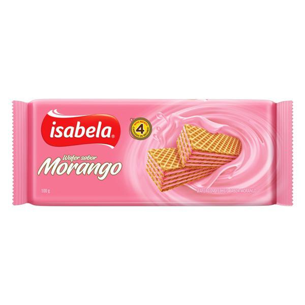 Biscoito Wafer Recheio Morango Isabela Pacote 100g