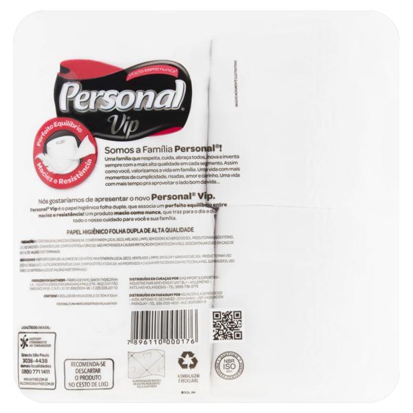 Papel Higiênico Folha Dupla Neutro Personal Vip 30m Pacote 4 Unidades
