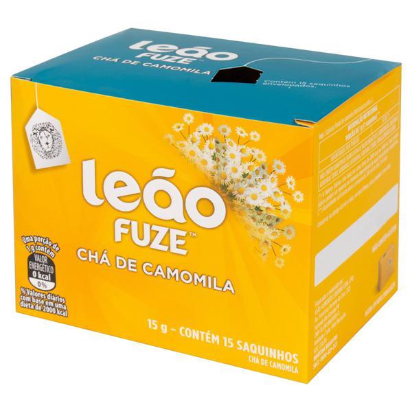 Chá Camomila Leão Fuze Caixa 15g 15 Unidades