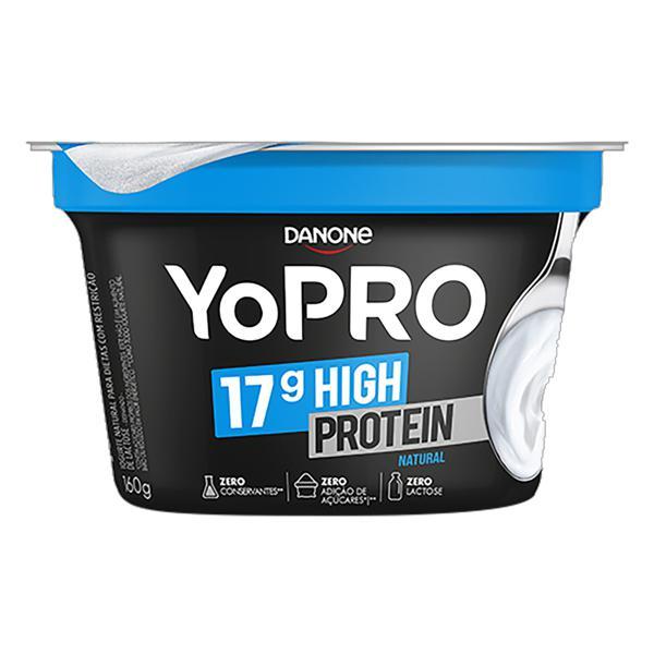 Iogurte Desnatado Natural Zero Lactose YoPRO 17g High Protein Pote 160g