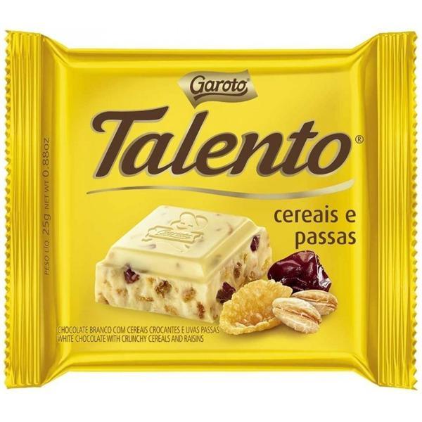 Chocolate em Barra GAROTO Talento Cereais e Passa 25g