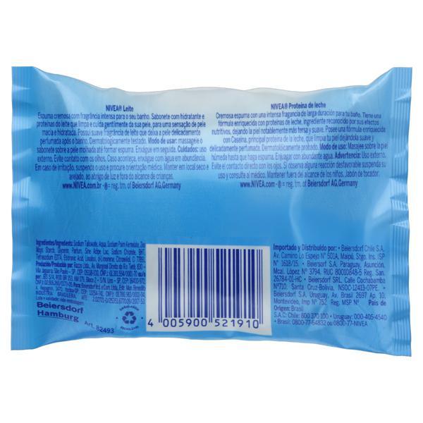Sabonete em Barra Hidratante Leite Nivea Pacote 85g
