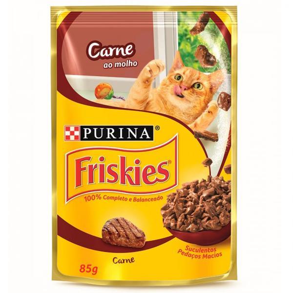 Alim Purina Friskies 85G Carne Ao Molho