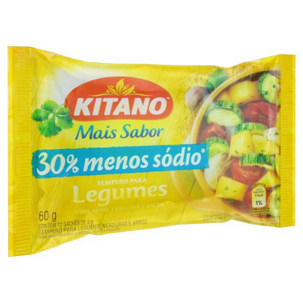 Tempero em Pó para Legumes Kitano Pacote 60g 12 Unidades