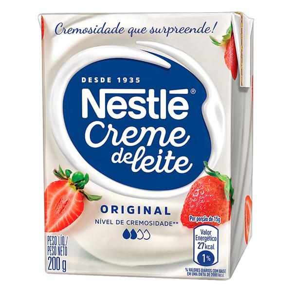 Creme de Leite UHT Leve Homogeneizado Original Nestlé Caixa 200g