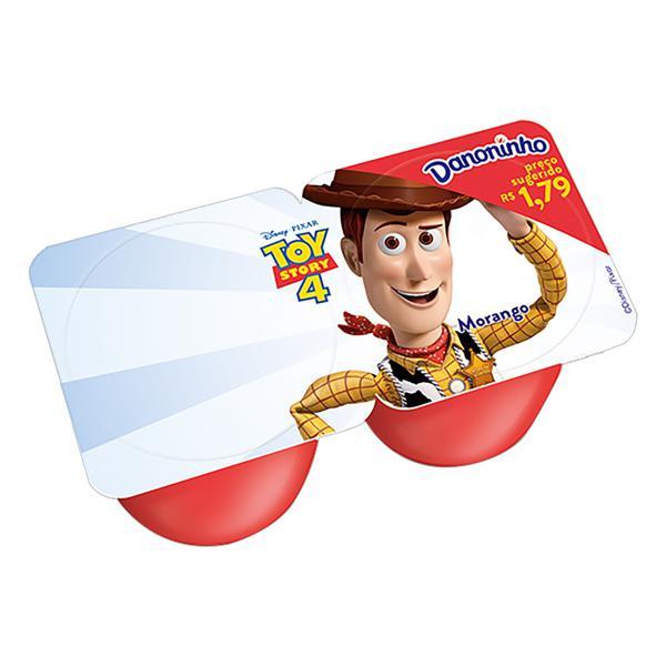 Petit Suisse Morango Toy Story 4 Danoninho Bandeja 80g 2 Unidades