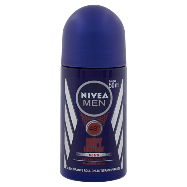 Antitranspirante Roll-On Nivea Men Dry Impact Plus 50ml