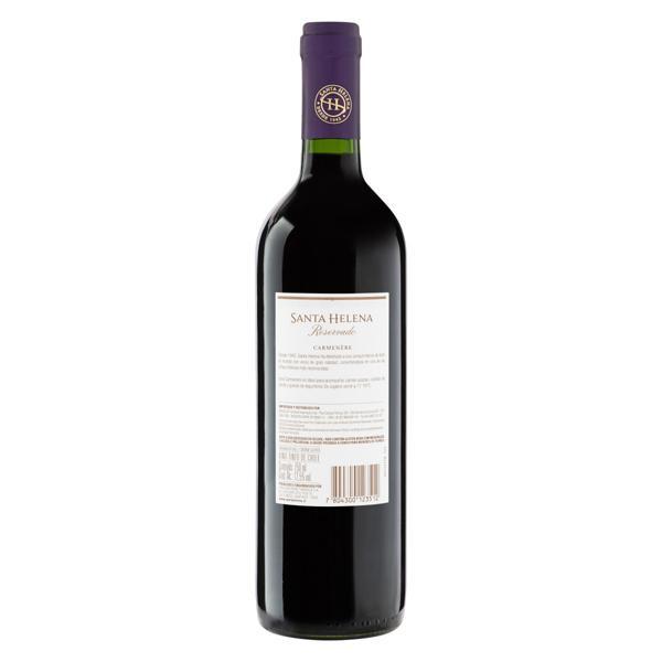 Vinho Chileno Tinto Meio Seco Reservado Santa Helena Carménère Valle Central Garrafa 750ml