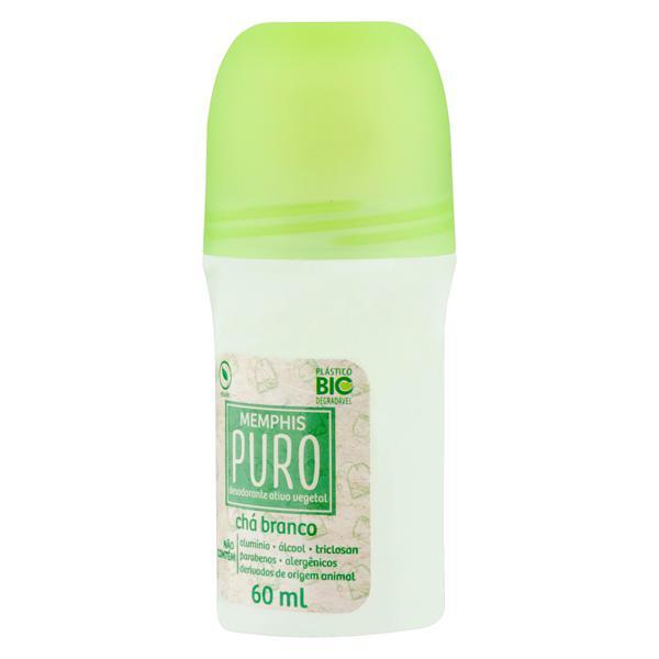 Desodorante Roll-On Vegetal Chá Branco Memphis Puro 60ml