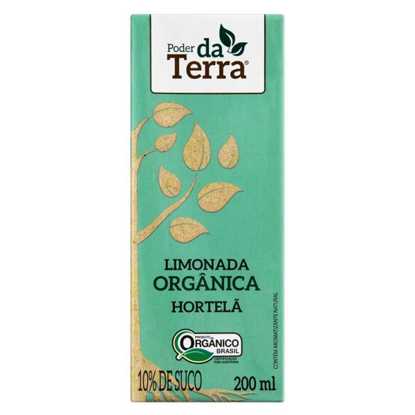 Bebida Orgânica Limonada com Hortelã 200ml - PODER DA TERRA