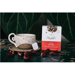 Chá Alma hibisco, menta e gengibre (caixa c/ 15 sachês) - Dei Falci