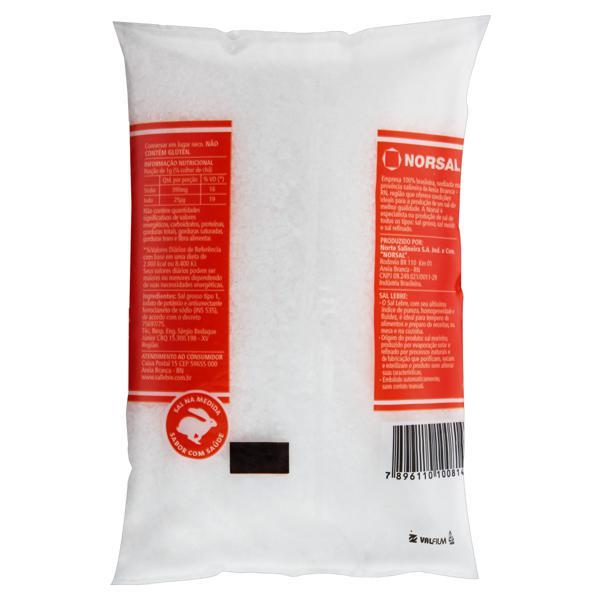 Sal Grosso Iodado para Churrasco Lebre Pacote 1kg
