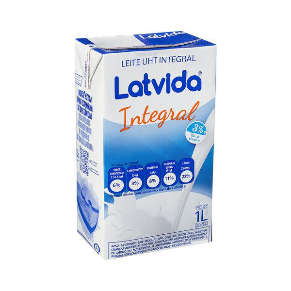 Leite Latvida 1L Integral