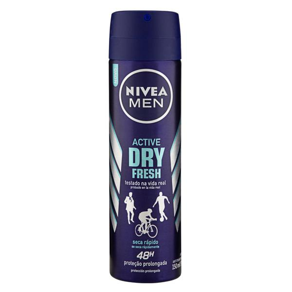 Antitranspirante Aerossol Nivea Men Active Dry Fresh 150ml
