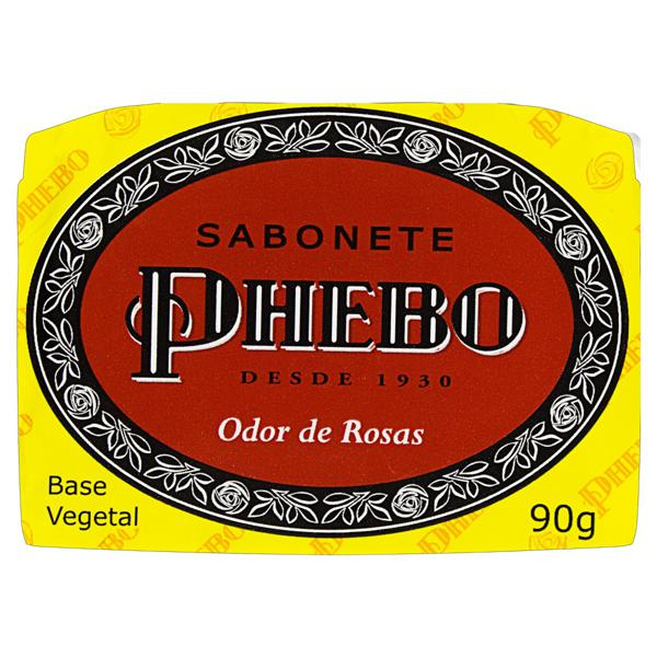 Sabonete em Barra Vegetal Odor de Rosas Phebo Cartucho 90g