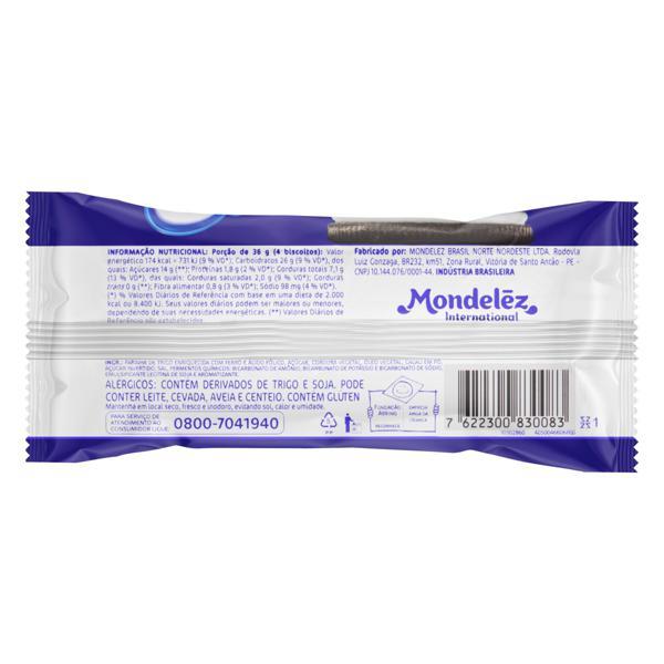 Biscoito Chocolate Recheio Baunilha Oreo Pacote 36g