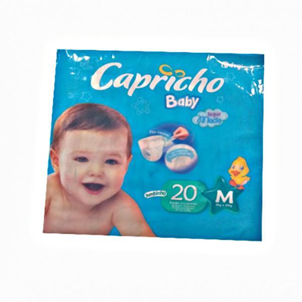 Fralda Descartável Capricho Baby 20X1 Economica M