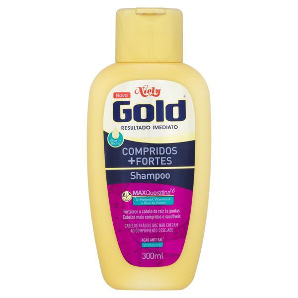 Shampoo Niely Gold Compridos + Fortes Frasco 300ml