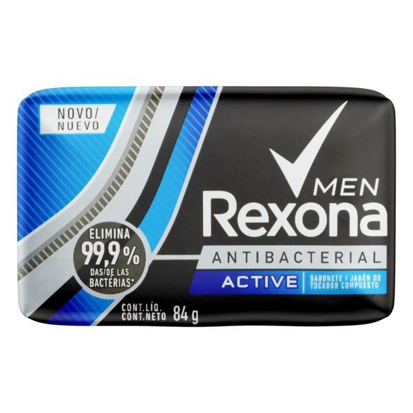Sabonete em Barra Antibacterial Active Rexona Men Cartucho 84g