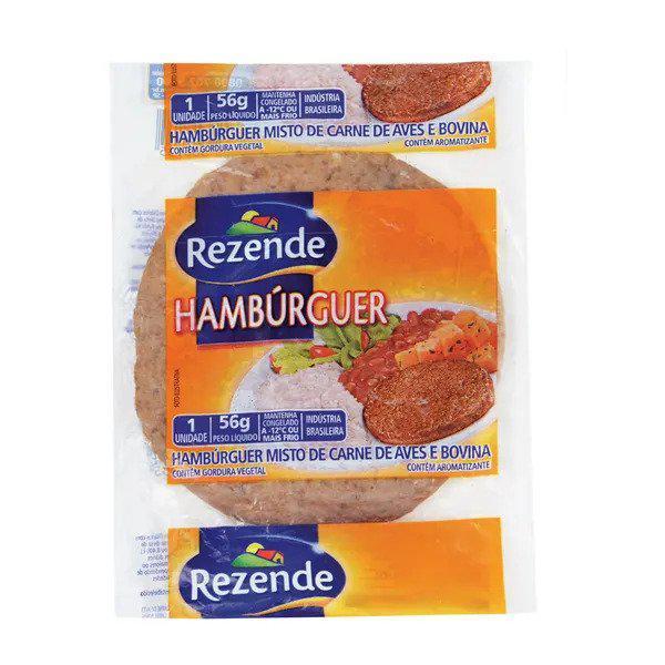 Hambúrguer REZENDE Carne e Aves 56g