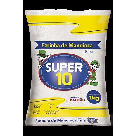 Farinha Mandioca Fina SUPER 10 1Kg