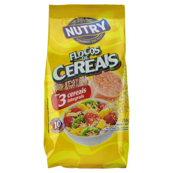 Flocos de Cereais Nutry Pacote 210g