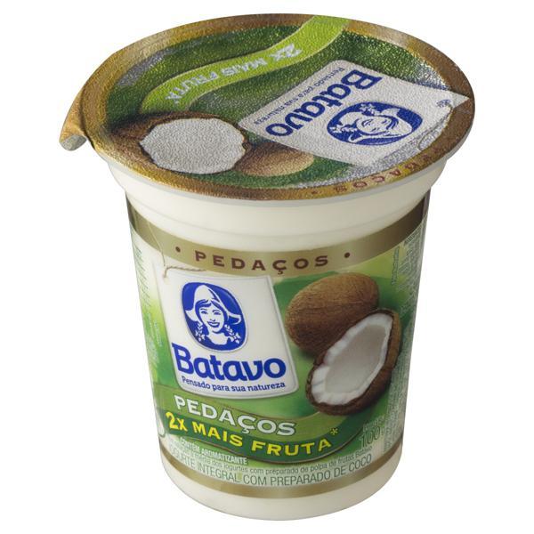 Iogurte Integral Coco Batavo Pedaços Pote 100g