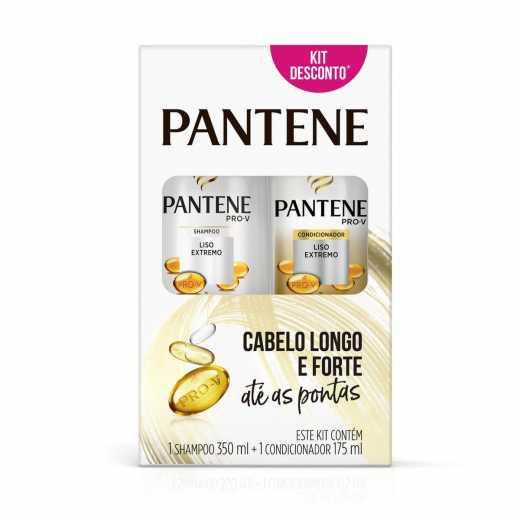 Kit PANTENE Shampoo e Condicionador Liso Extremo 350ml e 175ml
