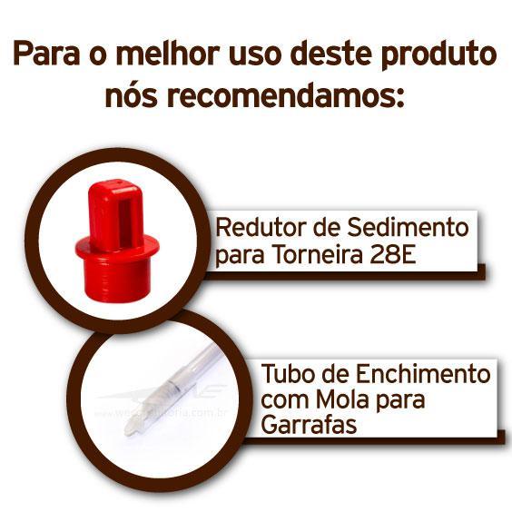 """Torneira Plástica Modelo 28E Diametro 3/4"""" para Fermentador"""