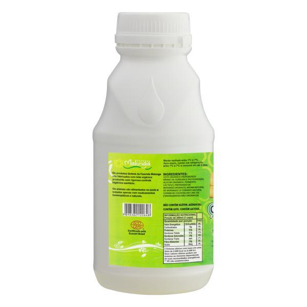 Iogurte Integral Morango Orgânico Malunga Garrafa 500g