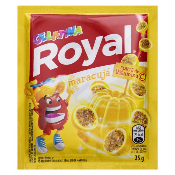Gelatina em Pó Maracujá Royal Pacote 25g
