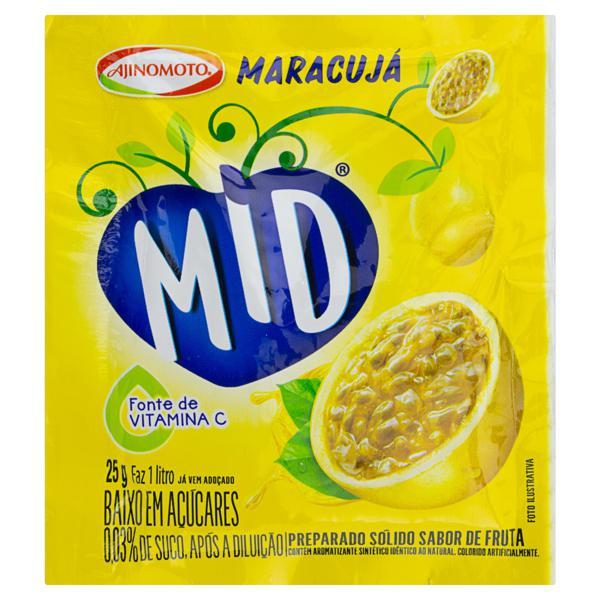 Refresco em Pó Maracujá Mid Pacote 25g