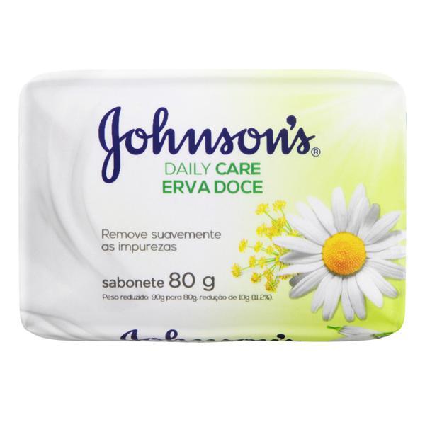 Sabonete em Barra Erva-Doce Johnson's Daily Care Cartucho 80g