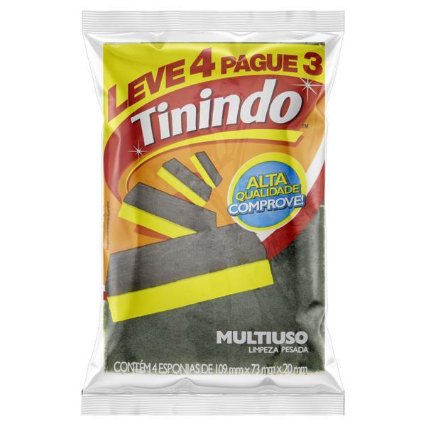 Esponja Multiuso Tinindo Leve 4 Pague 3 Unidades
