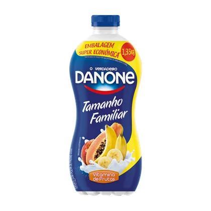 Iogurte DANONE Vitamina de Frutas Embalagem Familiar 1350g