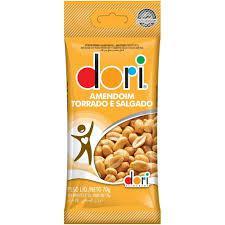 Amendoim Dori Torrado E Salgado Sem Pele 70G