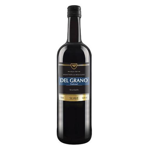 Vinho Brasileiro DEL GRANO Tinto Suave 750ml