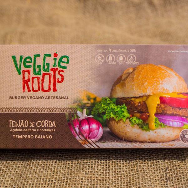 Burger Vegano Baiano, 4 unidades de 90g, total 360g  - Veggie Roots