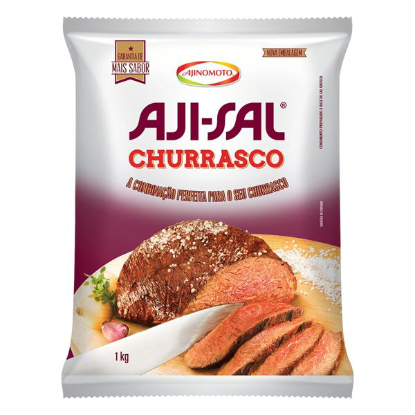 Sal Grosso para Churrasco Aji-Sal Pacote 1kg