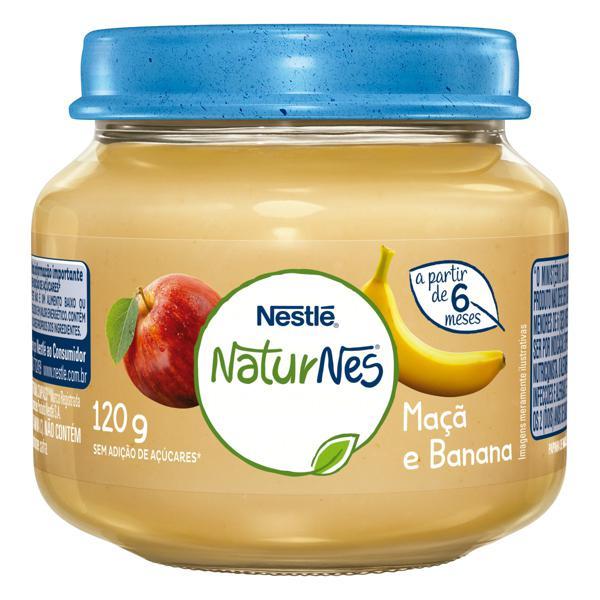Papinha Maçã e Banana Nestlé Naturnes Vidro 120g